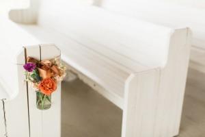 Wedding Ceremony Seating Decor - An Intimate Wedding Full of Rustic Vintage Elegance