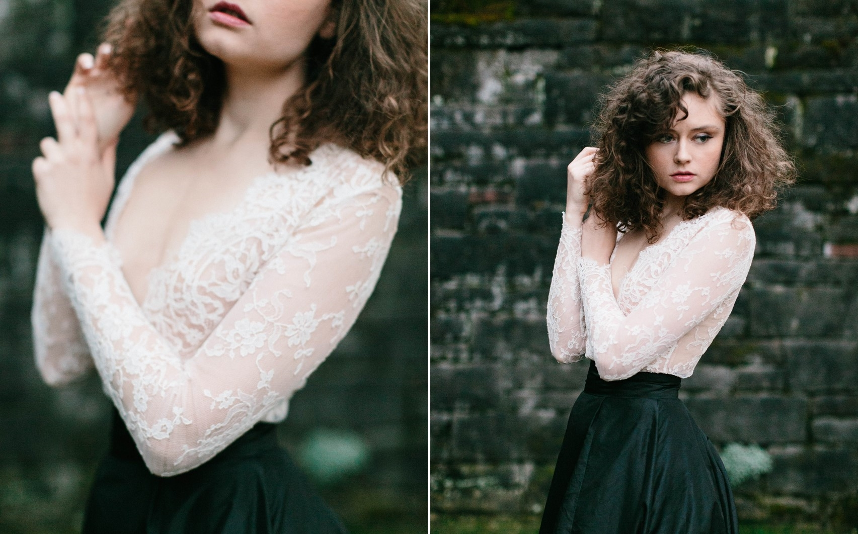 Long Sleeve Wedding Dress - A Romantic Gothic Bridal Inspiration Shoot
