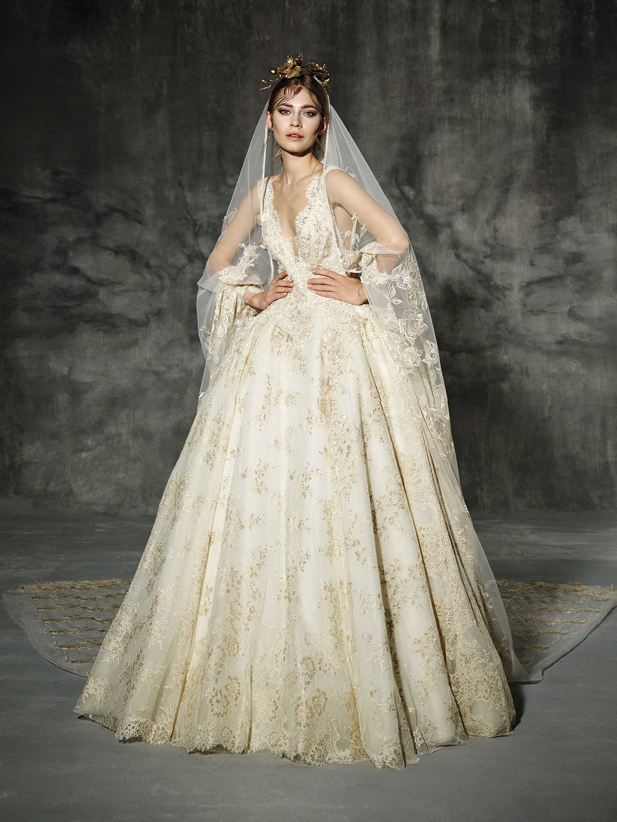 Vintage Wedding Dress - Yolan Cris Llunas Wedding Dress
