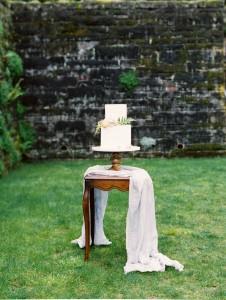 Elegant Wedding Cake - A Romantic Gothic Bridal Inspiration Shoot