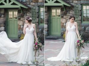Beautiful Bride & Bouquet - Romantic Al Fresco Wedding Ideas Inspired by Tuscany