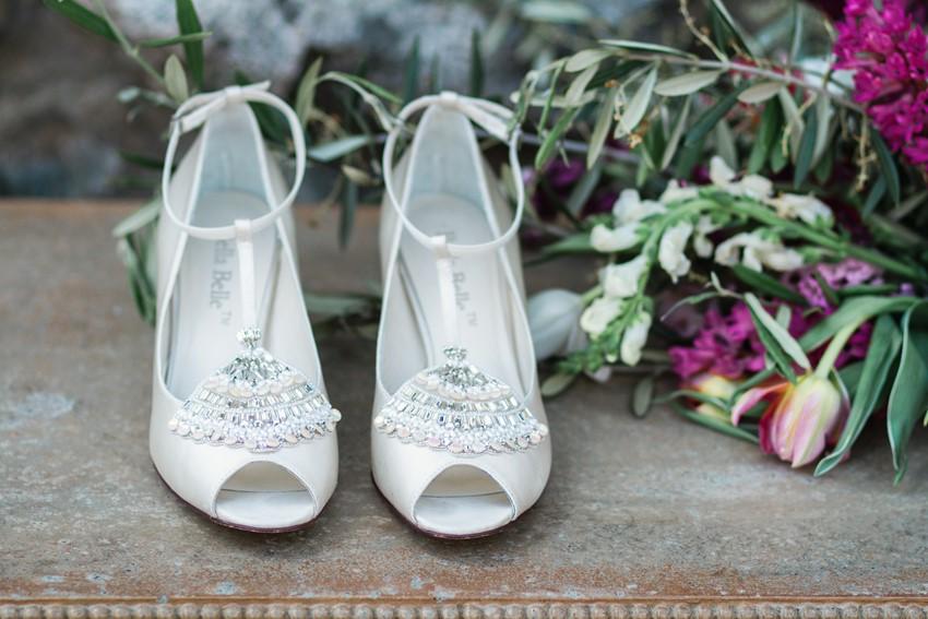 Bridal Shoes - Romantic Al Fresco Wedding Ideas Inspired by Tuscany
