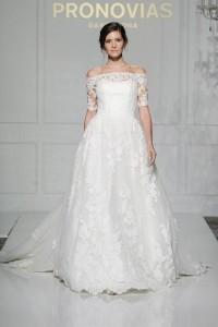 Vintage Wedding Dress - Pronovias Off Shoulder Wedding Dress