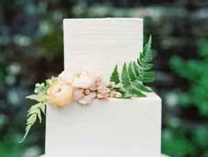 Flower Adorned Wedding Cake - Romantic Spring English Garden Wedding Inspiration