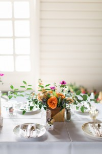 Wedding Reception Centrepiece - An Intimate Wedding Full of Rustic Vintage Elegance