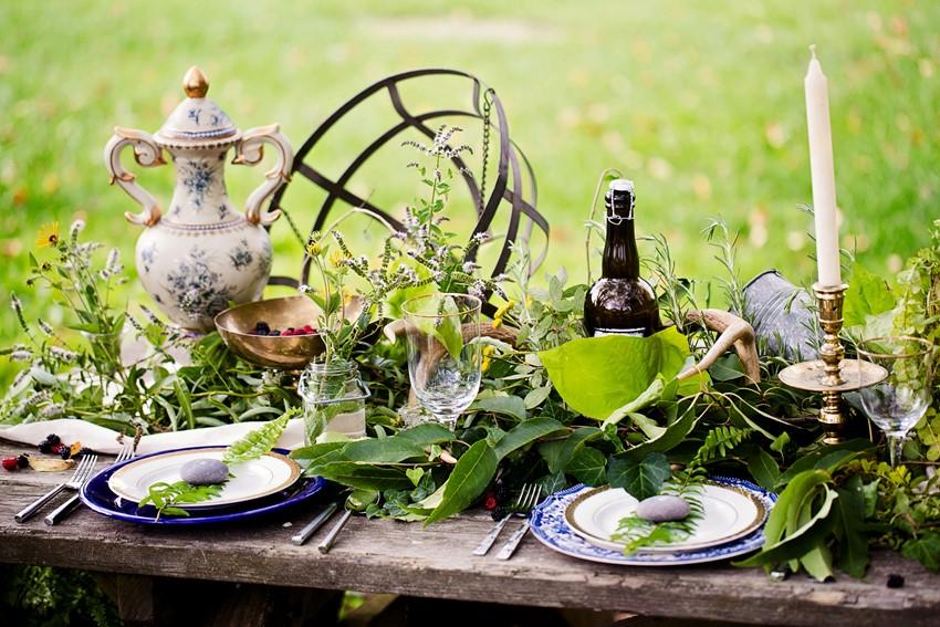 Rustic Wedding Tablescape - A Dreamy 'A River Runs Through It' Inspired Wedding Shoot