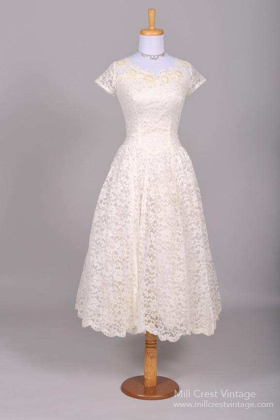 Fabulous Vintage 1950s Tealength Wedding Dresses