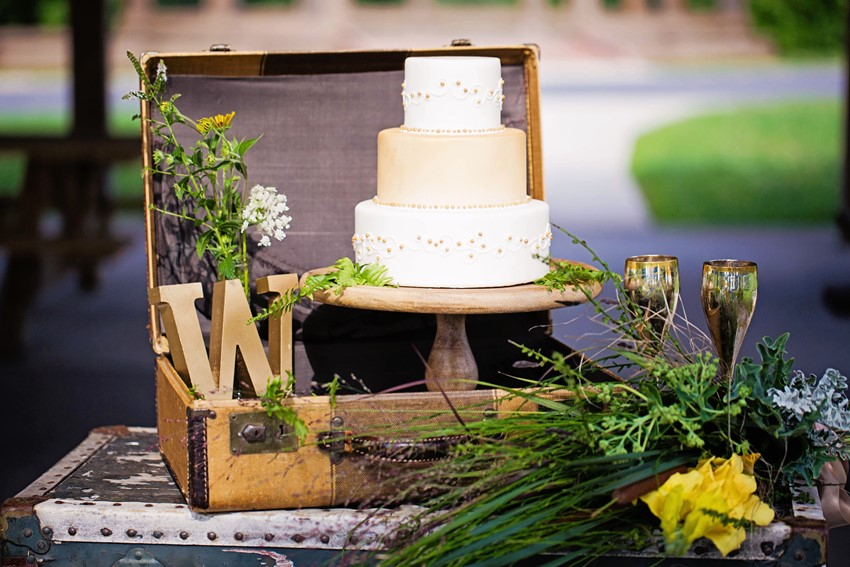 Wedding Cake - A Dreamy 'A River Runs Through It' Inspired Wedding Shoot