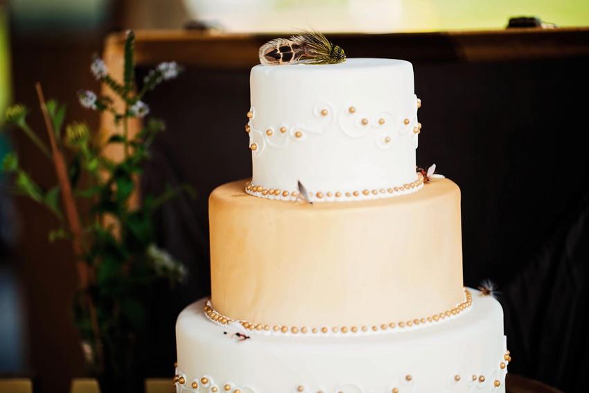 Wedding Cake - A Dreamy Vintage Fishing Themed Wedding Inspiration Shoot