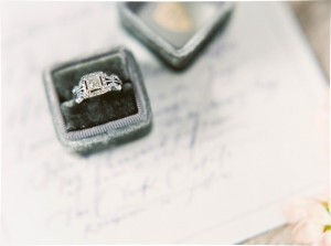 Vintage Engagement Ring Box - A Romantic Gothic Bridal Inspiration Shoot