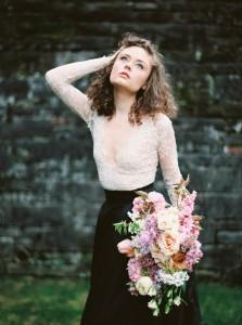 Beautiful Bridal Bouquet - A Romantic Gothic Bridal Inspiration Shoot