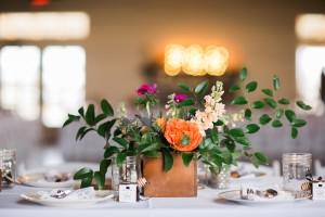 Wedding Reception Centrepiece - An Intimate Wedding Full of Rustic Vintage Elegance