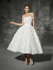 Vintage Wedding Dress - Yolan Cris Tea Length Delicias