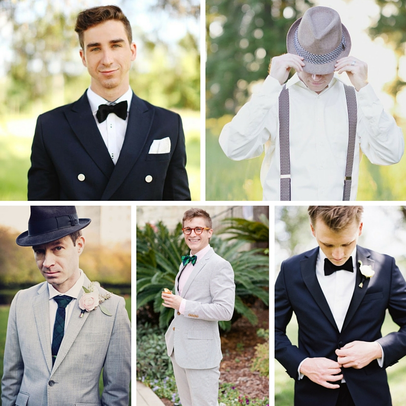 20 Stylish Grooms & Groomsmen Looks for a 1950s Wedding