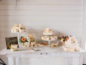 Wedding Dessert Table - An Intimate Wedding Full of Rustic Vintage Elegance