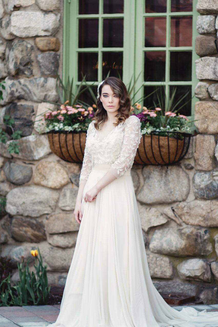 Long Sleeve Wedding Dress - Romantic Al Fresco Wedding Ideas Inspired by Tuscany