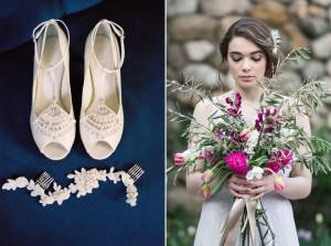 Bridal Shoes & Bridal Bouquet - Romantic Al Fresco Wedding Ideas Inspired by Tuscany