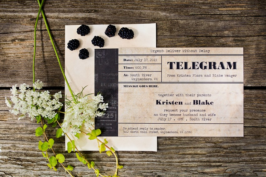 Vintage Wedding Stationery - A Dreamy 'A River Runs Through It' Inspired Wedding Shoot