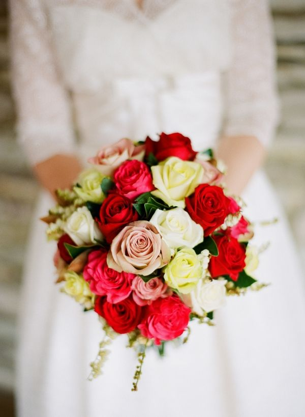 Rose Bridal Bouquet - 20 Beautiful Bridal Bouquets for the 1950s Loving Bride