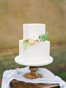 White Iced Wedding Cake - Romantic Spring English Garden Wedding Inspiration