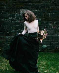 Black Bridal Skirt - A Romantic Gothic Bridal Inspiration Shoot