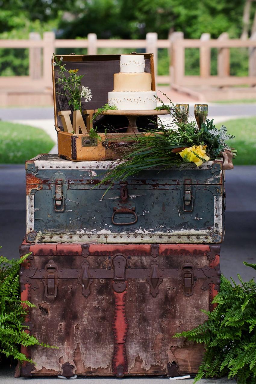 Vintage Wedding Cake Stand - A Dreamy 'A River Runs Through It' Inspired Wedding Shoot