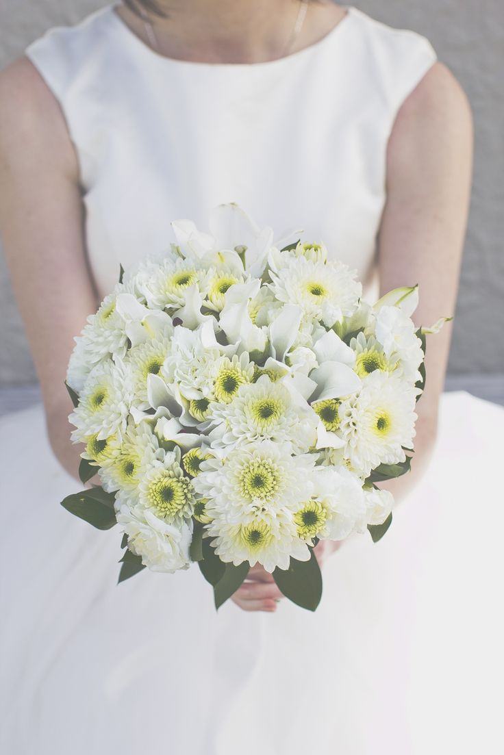 chrysanthemum Bridal Bouquet - 20 Beautiful Bridal Bouquets for the 1950s Loving Bride