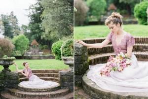 Purple Lace Wedding Dress - Romantic Spring English Garden Wedding Inspiration