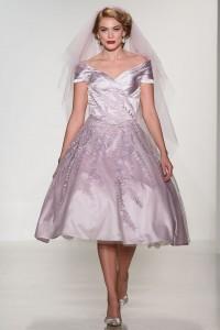 Vintage Wedding Dress - Matthew Christopher Tea Length Wedding Dress
