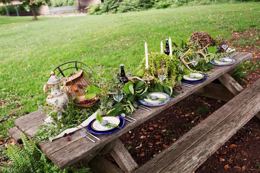 Rustic Tablescape - A Dreamy 'A River Runs Through It' Inspired Wedding Shoot