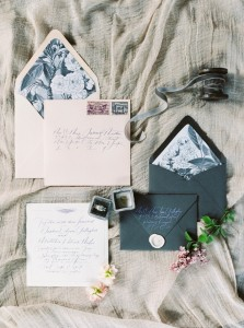 Wedding Stationery - Romantic Spring English Garden Wedding Inspiration
