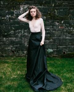 Lace Top & Black Bridal Skirt - A Romantic Gothic Bridal Inspiration Shoot