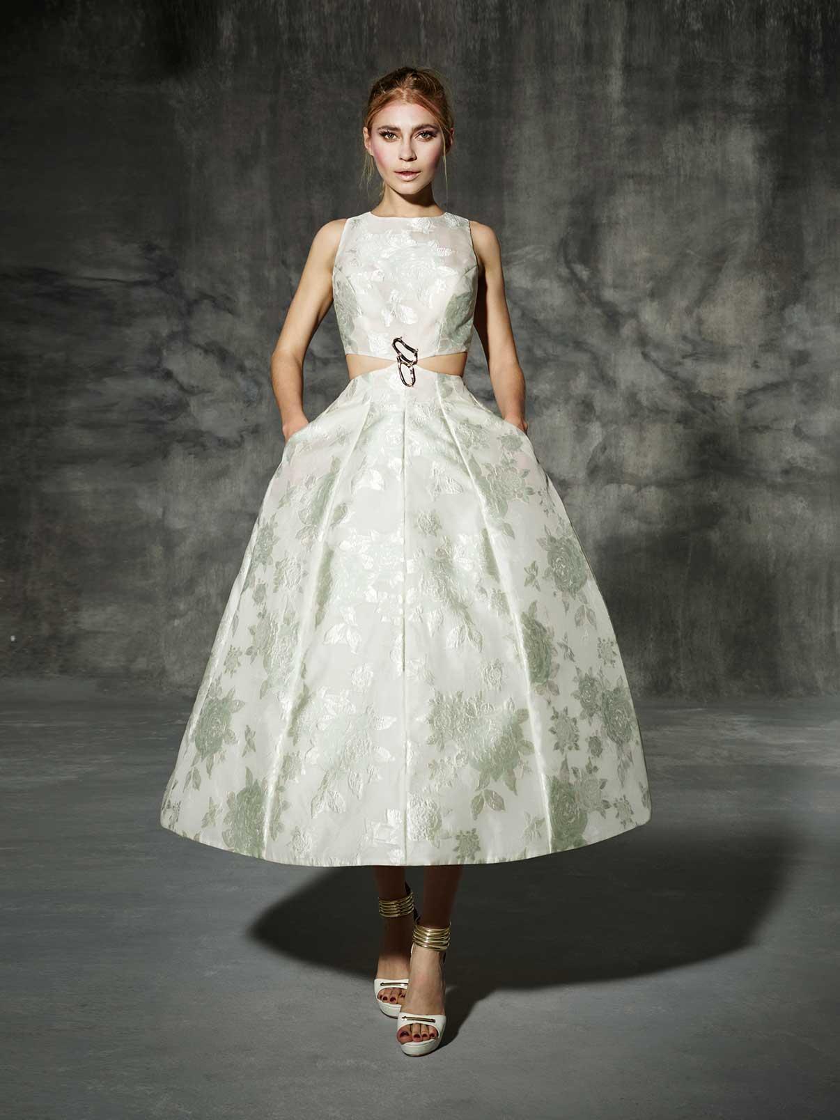 Vintage Wedding Dress - Yolan Cris Tea Length Begur Wedding Dress