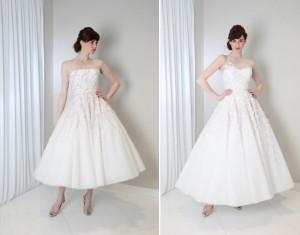 Vintage Wedding Dress - Randi Rahm Tea Length Wedding Dresses