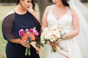 Bride & Bridesmaid Bouquets - An Intimate Wedding Full of Rustic Vintage Elegance