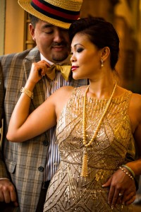A Glamorous Art Deco Inspired Engagement Shoot at Los Angeles Union Station. Photography ~ D Park Photography
