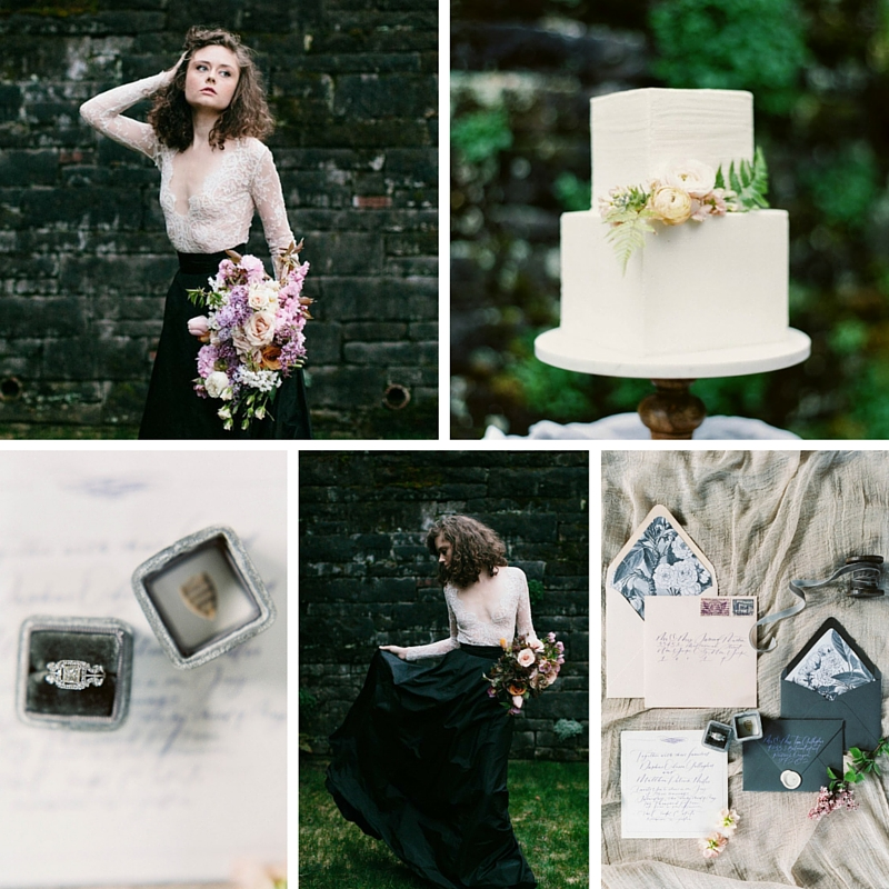 A Romantic Gothic Bridal Inspiration Shoot Photography ~ Maria Lamb