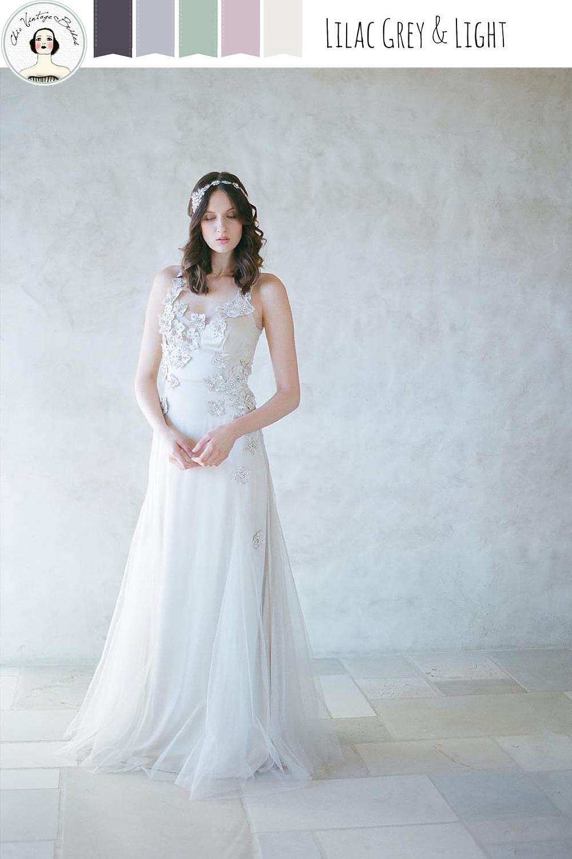 Chic Grey & Pastel Wedding Colour Palette