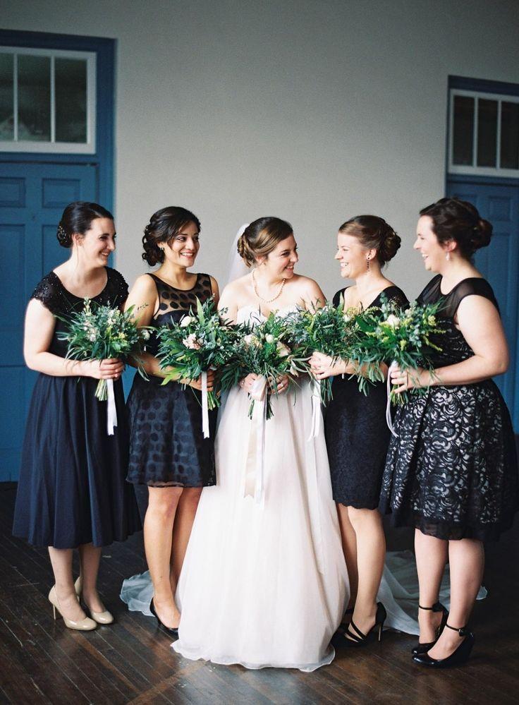 Classic Elegant 1950s Inspired Bridesmaids