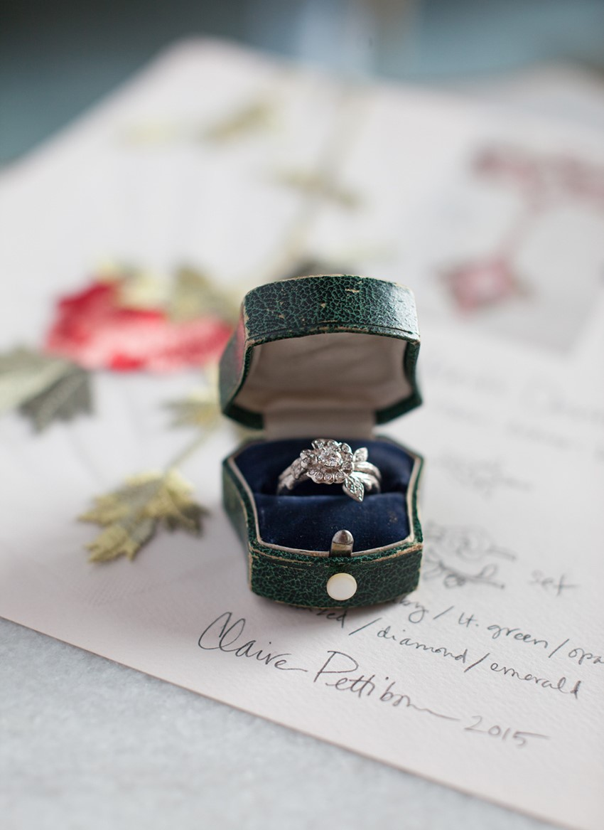 Diamond Engagement & Wedding Ring from Claire Pettibone for Trumpet & Horn