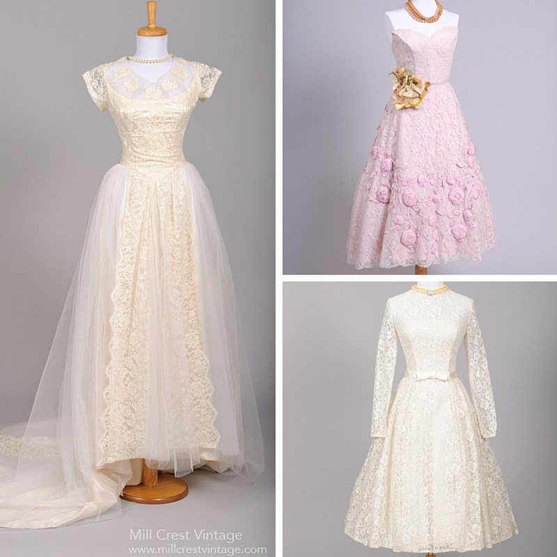 Fabulous Vintage 1950s Wedding & Bridesmaid Dresses from Mill Crest Vintage