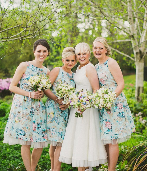 Floral 1950s Bridesmaid Dresses