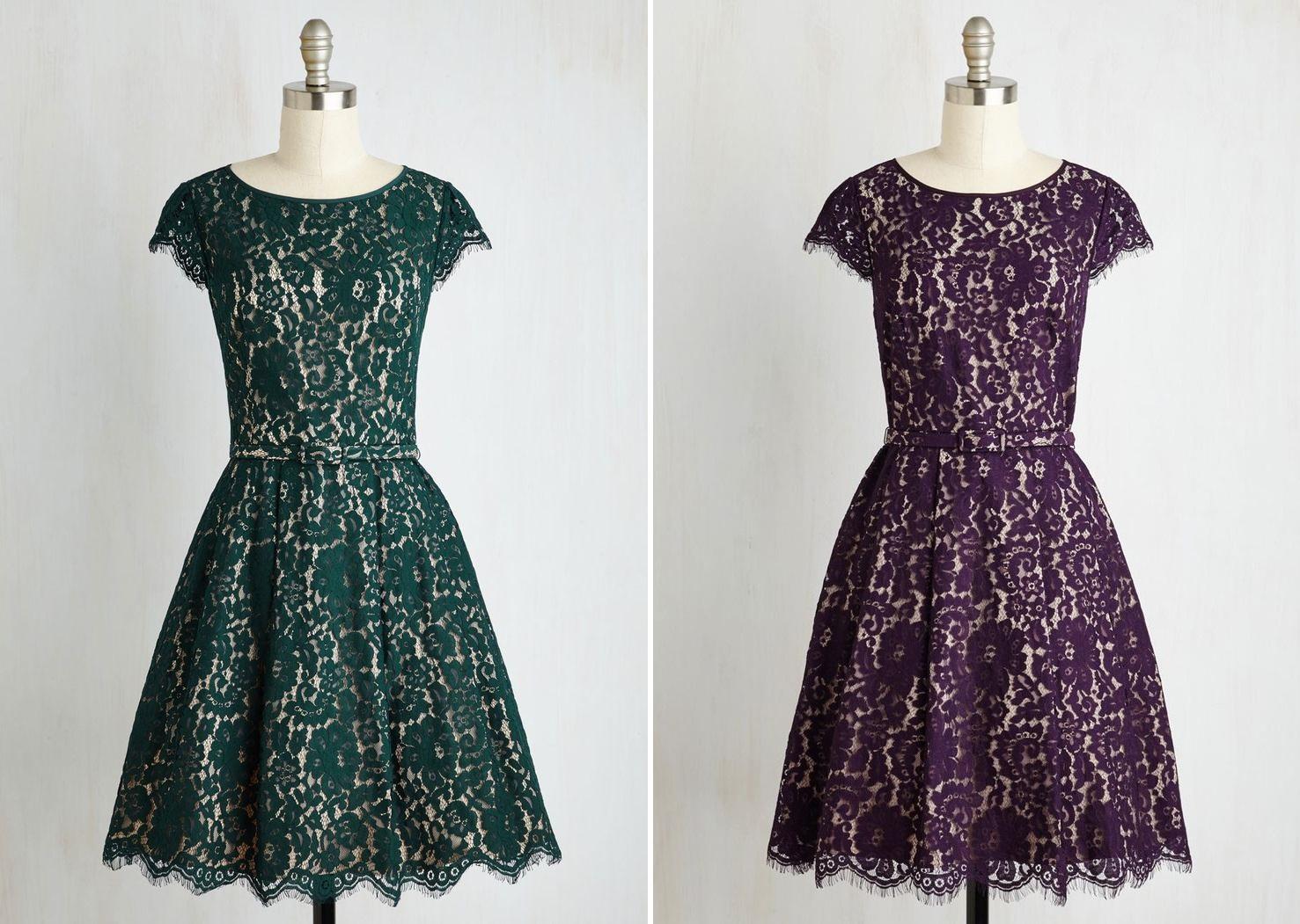Classic Elegant 1950s Inspired Bridesmaid Dress