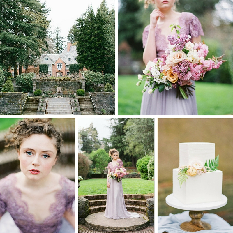Simple Elegant 2015 Women Summer Wedding Dresses Flowing: Romantic Spring English Garden Wedding Inspiration : Chic