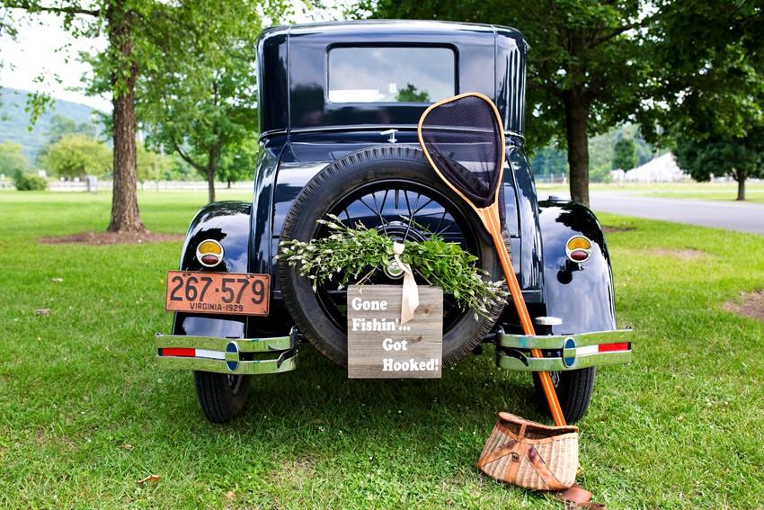 A Dreamy Vintage Fishing Themed Wedding Inspiration Shoot