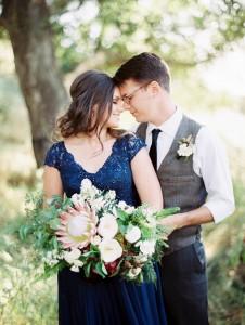 Chic Rustic Autumn Wedding Inspiration in a Stunning Colour Palette of Cobalt & Crimson