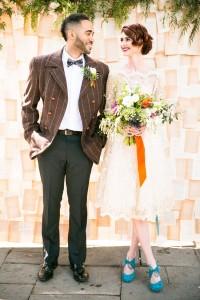 Literary Love - Mid-Century Vintage Wedding Shoot Inspired by Penguin Books