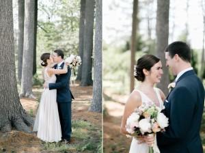 First Look - An Enchanting Early Summer Garden Wedding