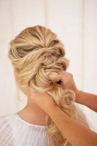 DIY Fancy Twisted French Braid Bridal Updo