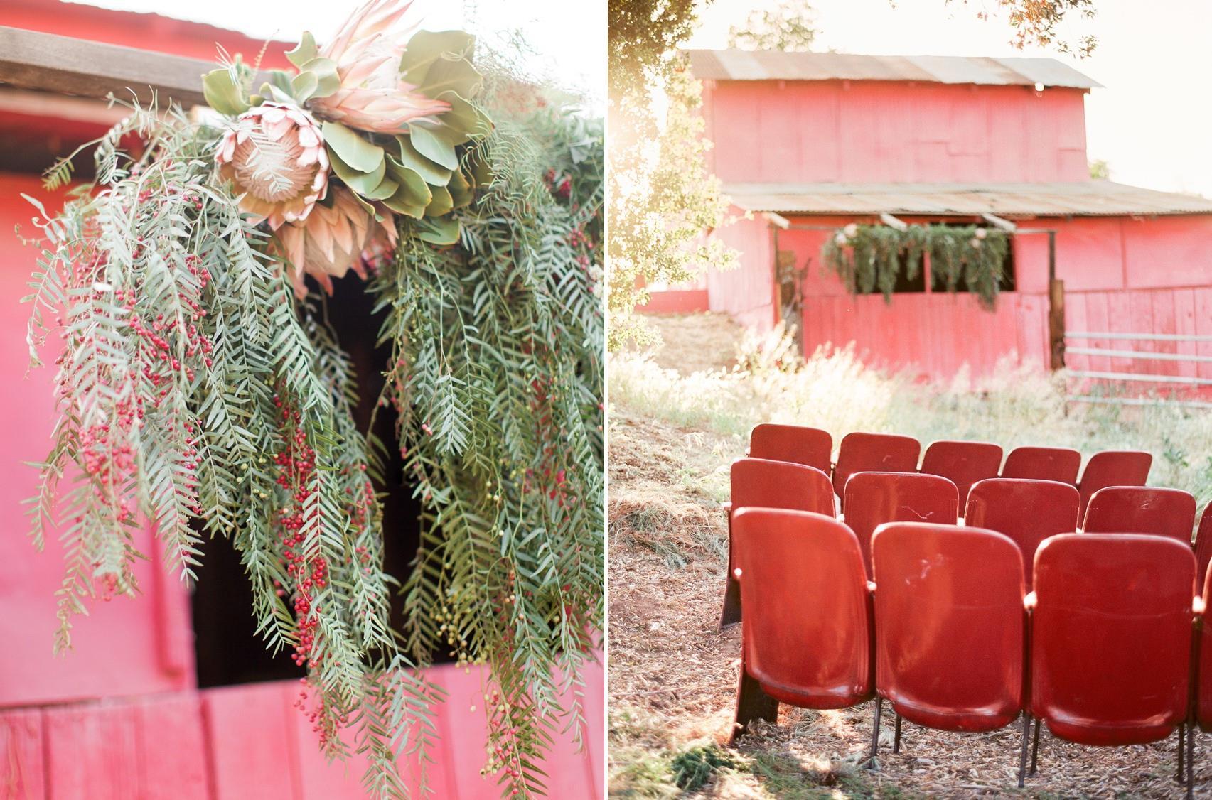 DIY Rustic Country Wedding Ceremony Decor